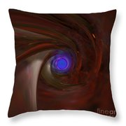 The Falcon's Eye   Ultra Violet Vision Throw Pillow by Peter R Nicholls