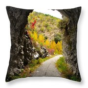 The Fall Cave Throw Pillow