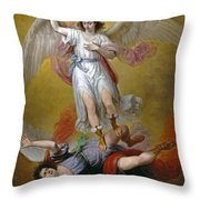 The Fall Of Lucifer Throw Pillow