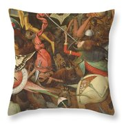 The Fall Of The Rebel Angels, 1562 Oil On Panel Detail Of 74037 Throw Pillow