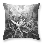 The Fall Of The Rebel Angels Throw Pillow