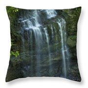 The Falls From Above Throw Pillow
