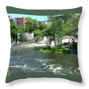 The Falls In Middlebury Throw Pillow