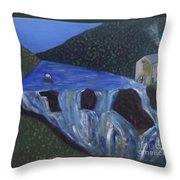 The Falls Of Cenarth Throw Pillow