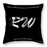 The Fame Of Flame 1 Throw Pillow