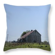 The Family Barn Throw Pillow