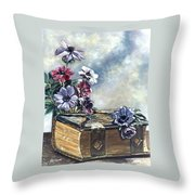 The Family Bible Graced By Anemones Throw Pillow