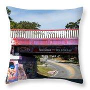 The Famous Graffiti Bridge Throw Pillow