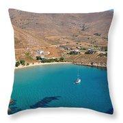 The Famous Psili Ammos Beach Throw Pillow