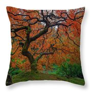 The Famous Tree At Portland Japanese Garden Throw Pillow
