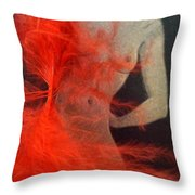 The Fan Dancer  Throw Pillow