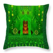 The Fantasy Girl In The Fauna  Throw Pillow