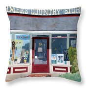 The Farmer's Country Store Throw Pillow
