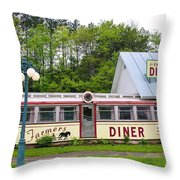 The Farmers Diner In Color Throw Pillow