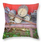 The Farmer's Old Wheelbarrow Throw Pillow