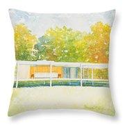 The Farnsworth House Throw Pillow