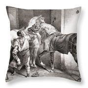 The Farrier, From Etudes De Cheveaux Throw Pillow