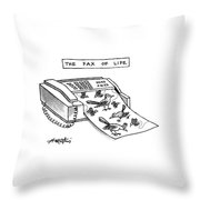The Fax Of Life Throw Pillow