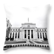 The Federal Reserve  Throw Pillow by Olivier Le Queinec