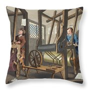 The Fellow Prentices At Their Looms Throw Pillow