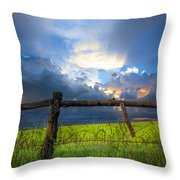 The Fence At Cades Cove Throw Pillow