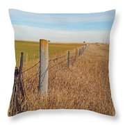 The Fence Row Throw Pillow