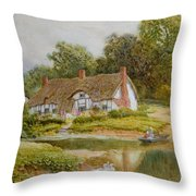The Ferry  Throw Pillow