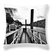 The Ferry Terminal York Throw Pillow
