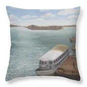 The Ferryman's Break Throw Pillow