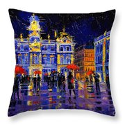 The Festival Of Lights In Lyon France Throw Pillow