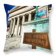 The Field Museum Sign In Chicago Throw Pillow