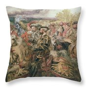 The Field Of The Cloth Of Gold, 1520 Throw Pillow