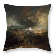 The Fifth Plague Of Egypt Throw Pillow