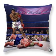 The Fight Of The Century - June 28 1971 C-vs-us Throw Pillow
