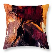 The Fighter Throw Pillow