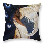 The Final Eclipse Before The Millenium Hand Embroidery  Throw Pillow