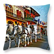 The Final Ride Painted Throw Pillow