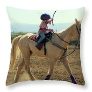 The Final Stretch Throw Pillow