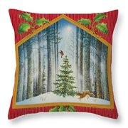 The Fir Tree Throw Pillow