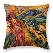 The Fire Dance Throw Pillow