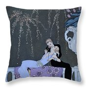 The Fire Throw Pillow by Georges Barbier
