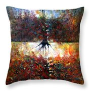 The Fire Of Forest-the Fire Of Heart Throw Pillow