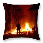 The Fire Starter Throw Pillow