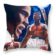 The Fire The Sting The King  Throw Pillow