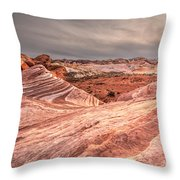 The Fire Wave Throw Pillow
