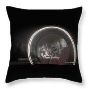 The Fire Wheel Ghost Man Throw Pillow