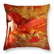 The Fire Within Throw Pillow by Jacky Gerritsen