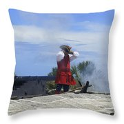 The Firing Of The Cannon 2 Throw Pillow