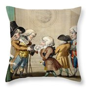 The First Approach, C.1790 Throw Pillow by Carlo Lasinio
