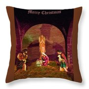 The First Christmas - Greeting Card Throw Pillow